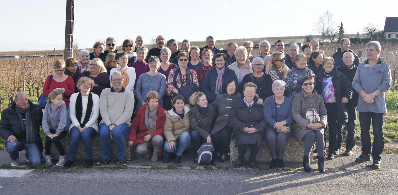Participants au marche de noel a COLMAR