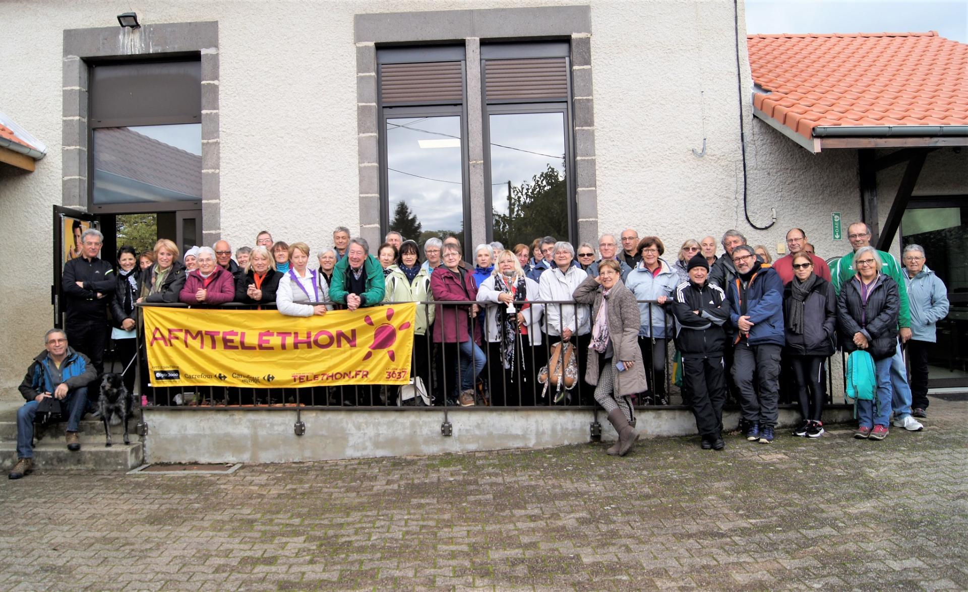 Groupe de marcheur à Vinzelles