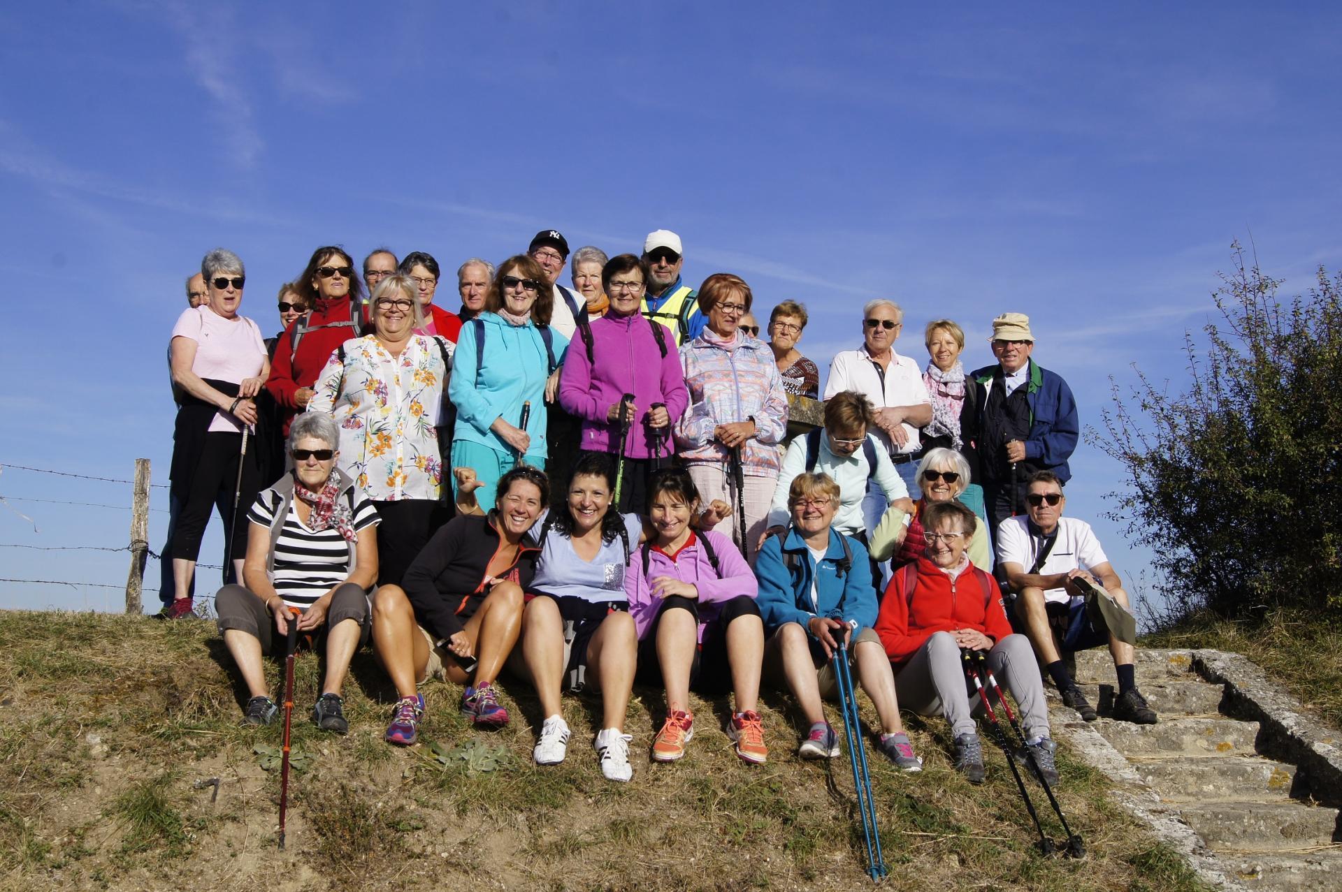 Groupe marcheur a Ussel d'Allier