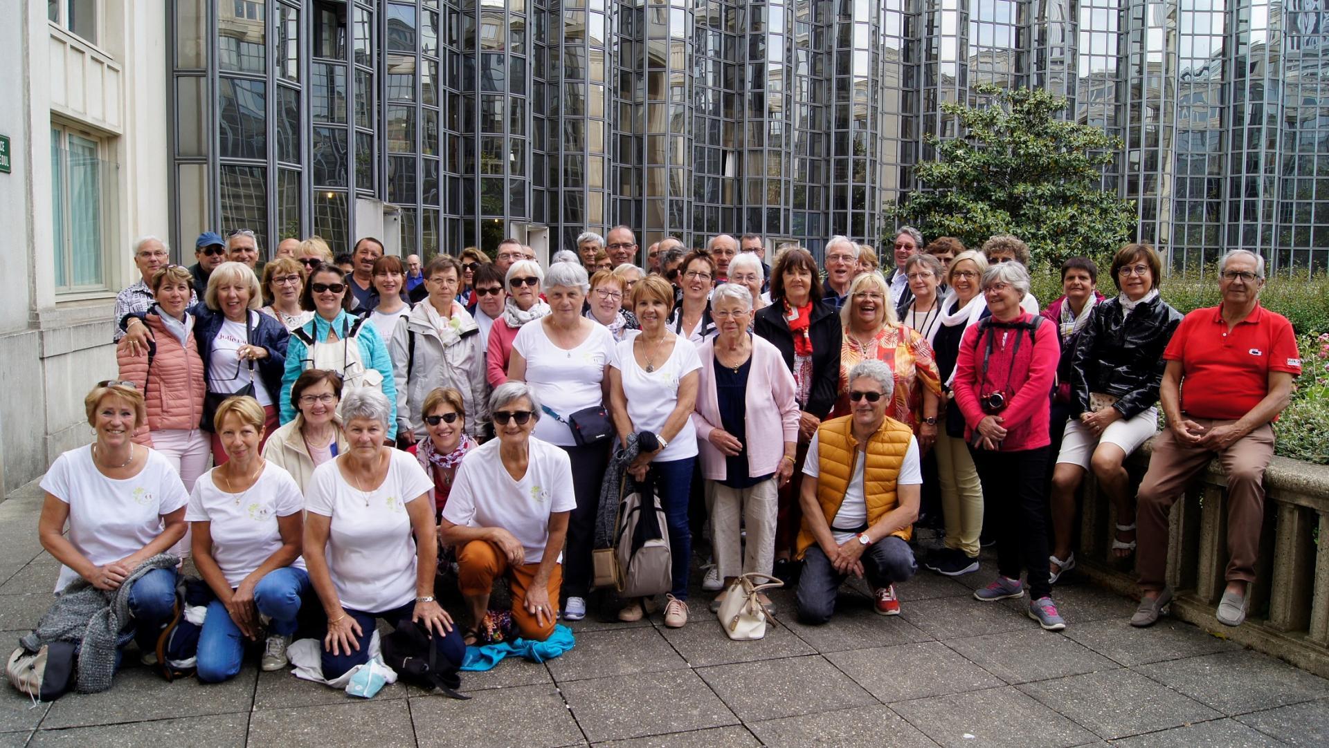 Le groupe à Versailles