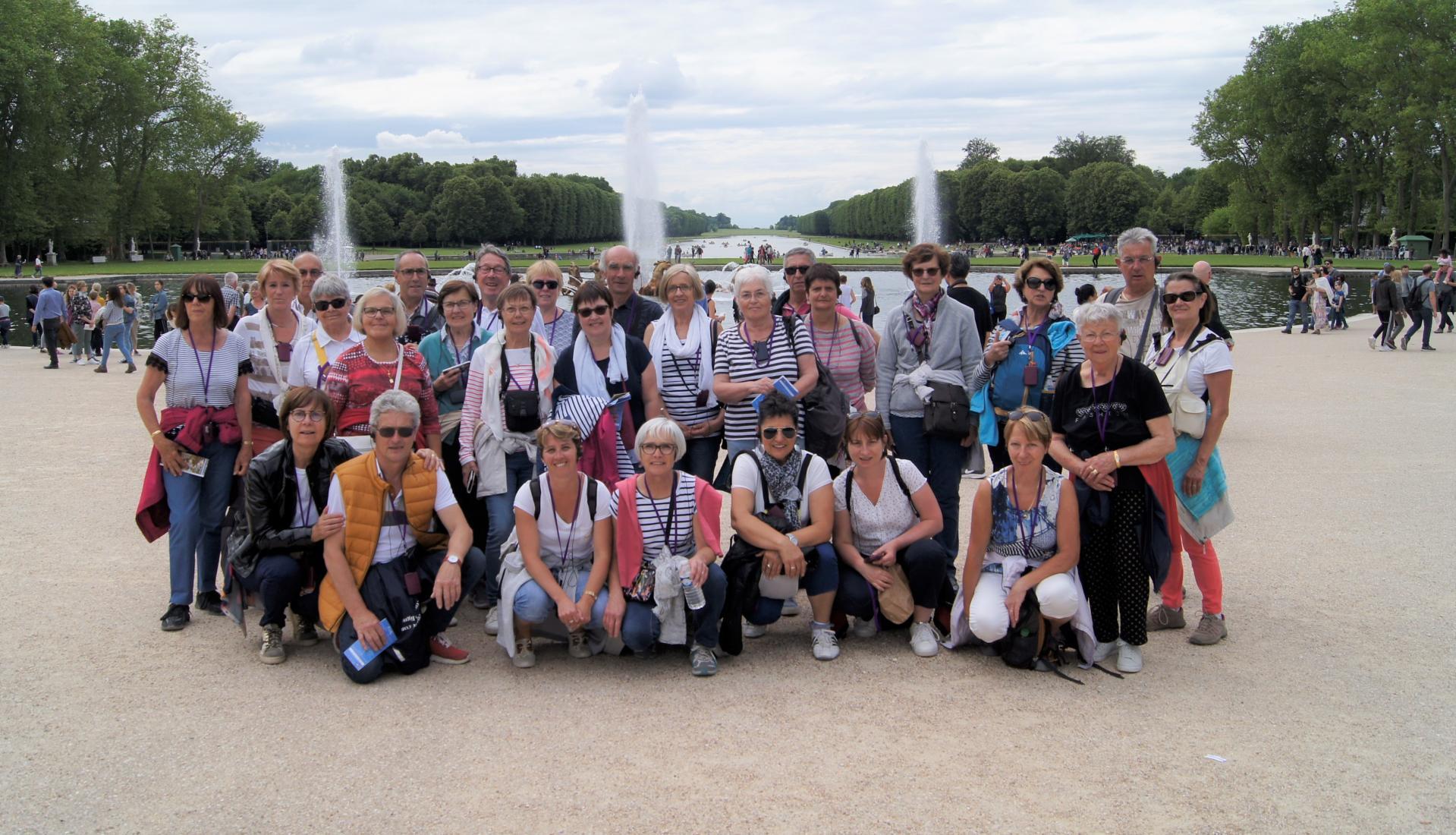 Le groupe au chataeu de Versailles
