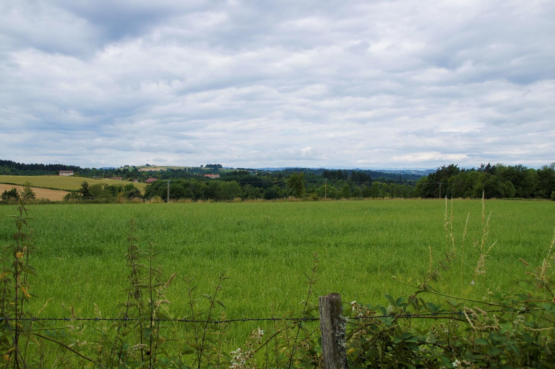 Paysage à Aubusson d'Auvergne