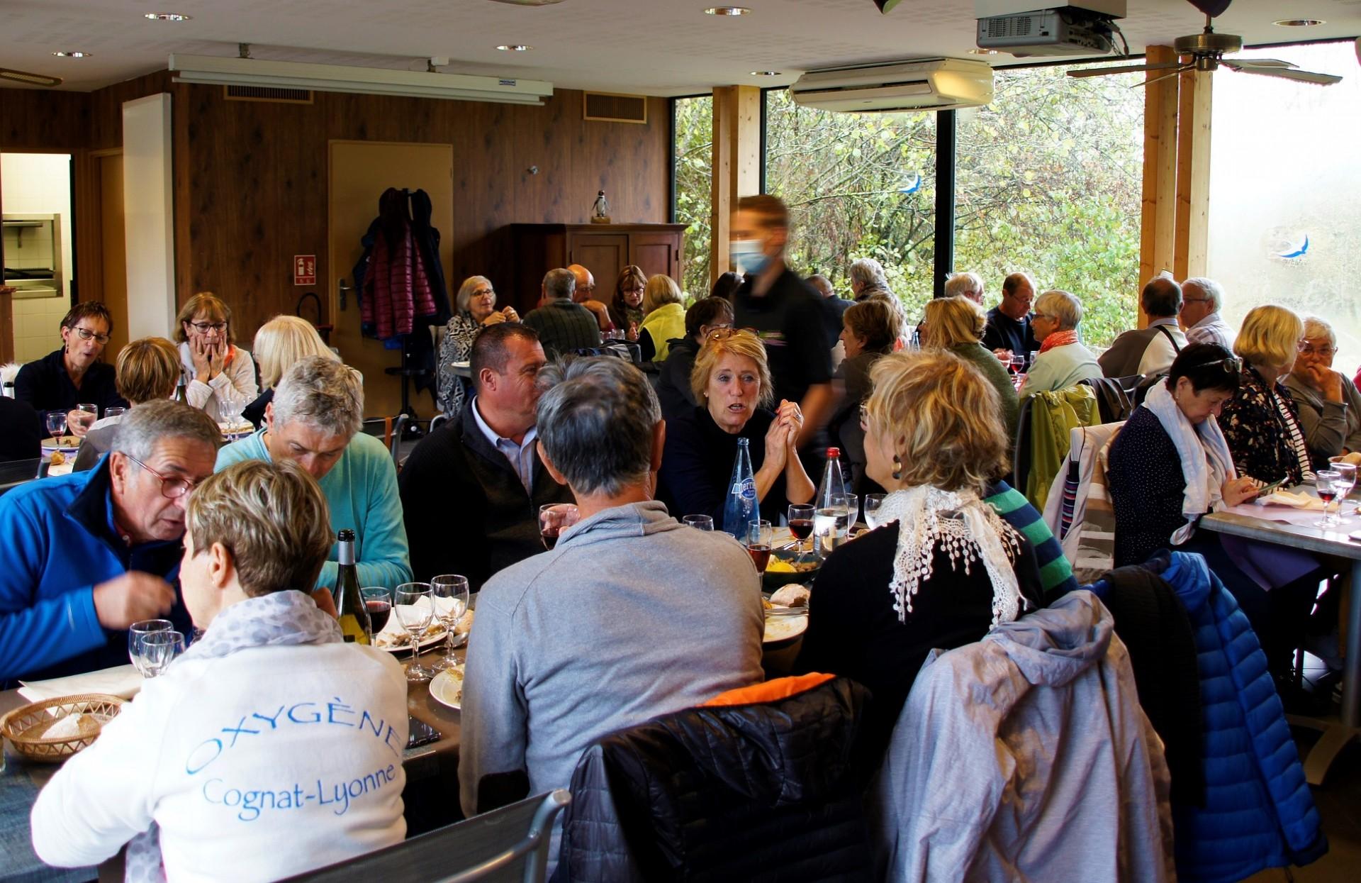 Repas au restaurant du parc de Villars les Dombes