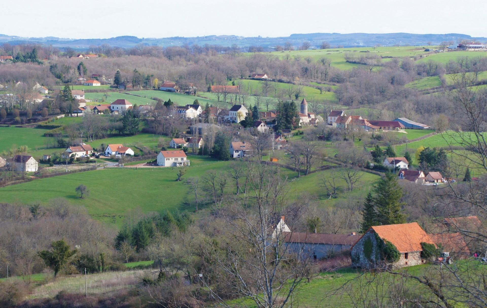 Vue sur St Etienne de Vicq